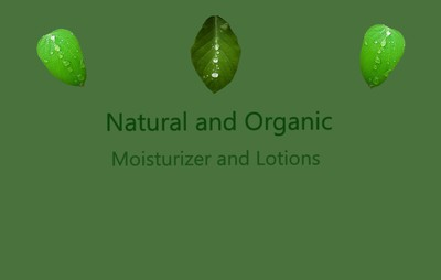 Organic and Natural Moisturizers and Lotions at My Organic Access