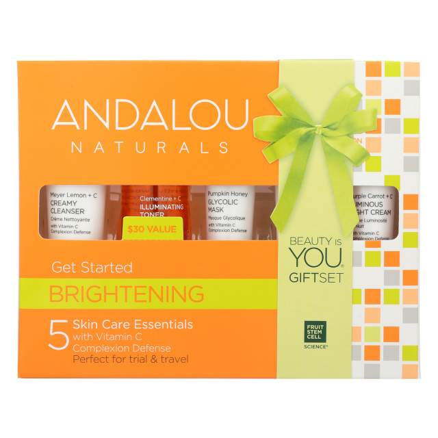 Organic holiday gifts valentines day mothers day christmas andalou naturals organic skin care beauty kit 5 pcs made in usa nice gift set negle Images
