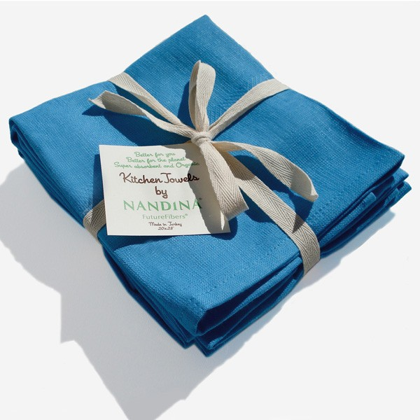 Organic Kitchen Towel Three Pack   In An Array Of Wonderful Colors. Fabric  Made Of 25% Gots Certified Organic Cotton And 75% Bamboo Rayon.